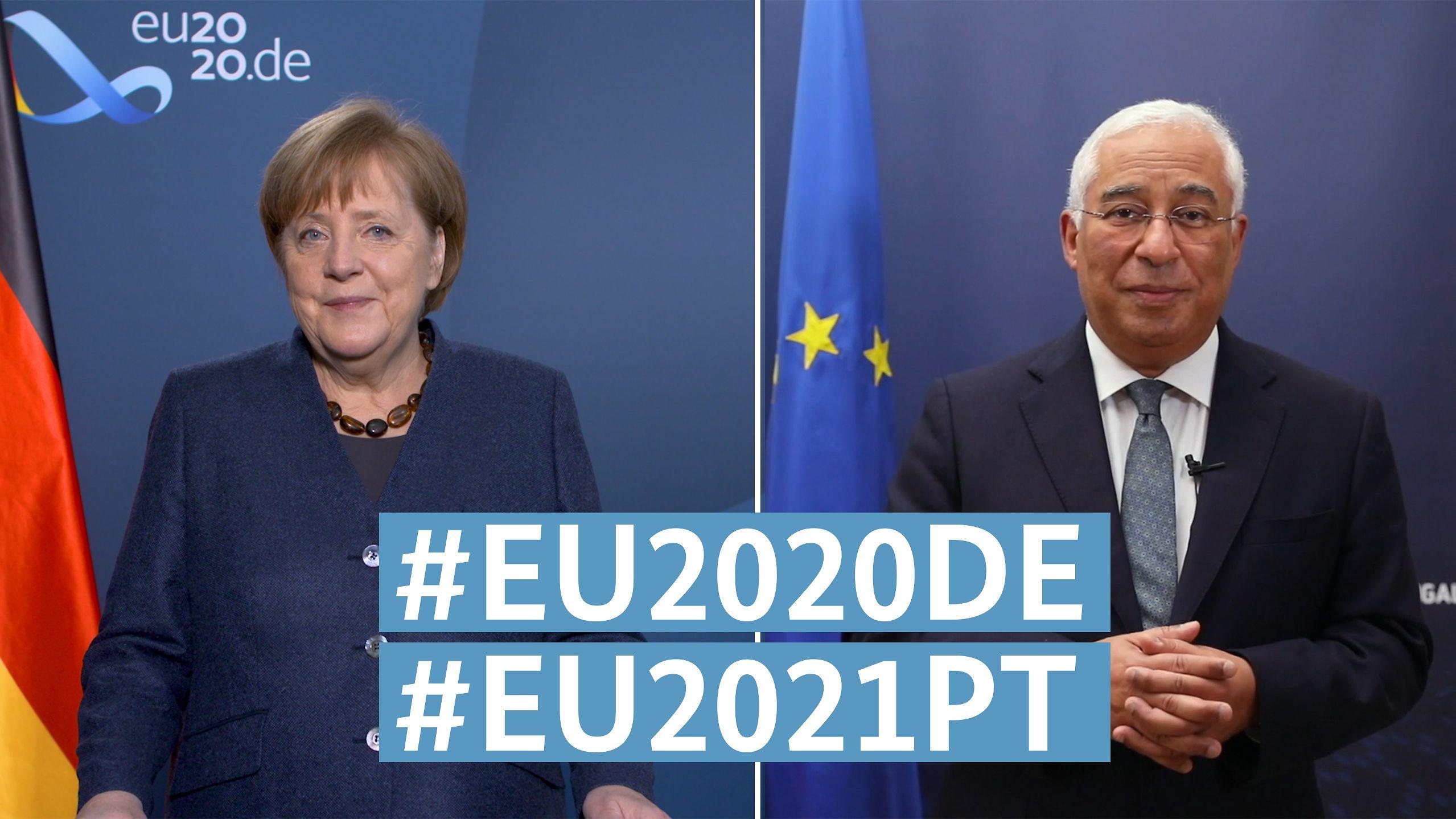 """Kancléřka Angela Merkelová a portugalský premiér António Costa: """"Společně budeme silnější než virus"""""""