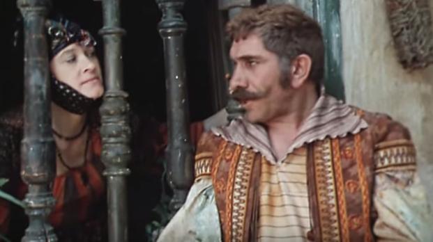 "Scéna z filmu "" Dulcinea Toboska "" Armen Džigarkhanyan"